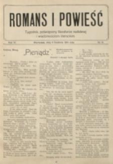 Romans i Powieść. R. 6, nr 14 (4 kwietnia 1914)