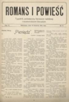 Romans i Powieść. R. 6, nr 16 (18 kwietnia 1914)
