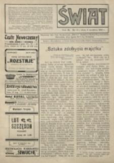Świat : pismo tygodniowe ilustrowane poświęcone życiu społecznemu, literaturze i sztuce. R. 9 (1914), nr 14 (4 kwietnia)
