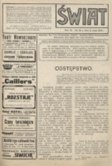 Świat : pismo tygodniowe ilustrowane poświęcone życiu społecznemu, literaturze i sztuce. R. 9 (1914), nr 18 (2 maja)