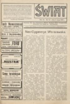 Świat : pismo tygodniowe ilustrowane poświęcone życiu społecznemu, literaturze i sztuce. R. 9 (1914), nr 19 (9 maja)