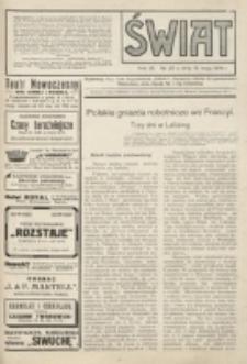Świat : pismo tygodniowe ilustrowane poświęcone życiu społecznemu, literaturze i sztuce. R. 9 (1914), nr 20 (16 maja)