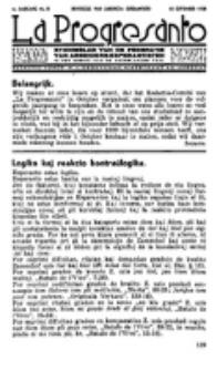 La Progresanto : studieblad van de Federatie van Arbeiders-Esperantisten in het Gebied van de Nederlandse Taal. Jaargang 4, no 9 (10 September 1938)