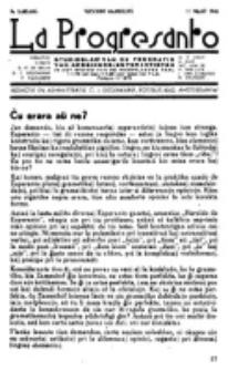 La Progresanto : studieblad van de Federatie van Arbeiders-Esperantisten in het Gebied van de Nederlandse Taal. Jaargang 8 (15 Maart 1946)
