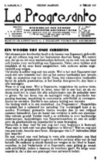 La Progresanto : studieblad van de Federatie van Arbeiders-Esperantisten in het Gebied van de Nederlandse Taal. Jaargang 9, no 2 (15 Februari 1947)