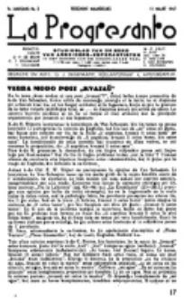 La Progresanto : studieblad van de Federatie van Arbeiders-Esperantisten in het Gebied van de Nederlandse Taal. Jaargang 9, no 3 (15 Maart 1947)