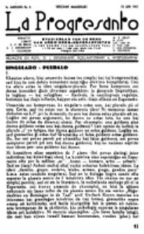 La Progresanto : studieblad van de Federatie van Arbeiders-Esperantisten in het Gebied van de Nederlandse Taal. Jaargang 9, no 6 (15 Juni 1947)