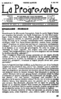 La Progresanto : studieblad van de Federatie van Arbeiders-Esperantisten in het Gebied van de Nederlandse Taal. Jaargang 9 (1947)
