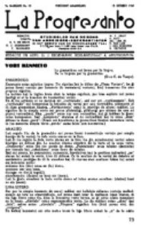 La Progresanto : studieblad van de Federatie van Arbeiders-Esperantisten in het Gebied van de Nederlandse Taal. Jaargang 9, no 10 (15 Oktober 1947)