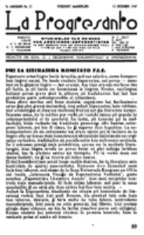 La Progresanto : studieblad van de Federatie van Arbeiders-Esperantisten in het Gebied van de Nederlandse Taal. Jaargang 9, no 12 (15 December 1947)