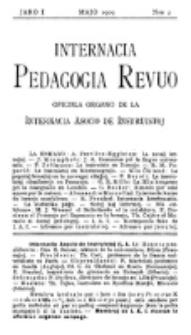 Internacia Pedagogia Revuo : oficiala organo de la Internacia Asocio de Instruistoj. Jaro 1, nro 2 (Majo 1909)