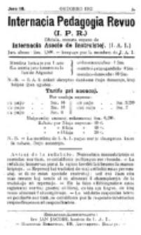 Internacia Pedagogia Revuo : oficiala organo de la Internacia Asocio de Instruistoj. Jaro 3, nro 4/5 (Novembro-Decembro 1912)
