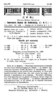 Internacia Pedagogia Revuo : oficiala organo de la Internacia Asocio de Instruistoj. Jaro 4, nro 11/12 (Junio-Julio 1914)