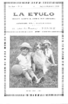 La Etulo : monata gazeto ilustrita por geknaboj.Jaro 2, No 16 (aug./sept.1929)