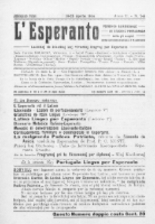 L'Esperanto : lecionoj de klasikaj kaj vivantaj lingvoj per Esperanto. An. 2, N 7/8 (1914)