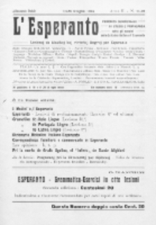 L'Esperanto : lecionoj de klasikaj kaj vivantaj lingvoj per Esperanto. An. 2, N 11/12 (1914)