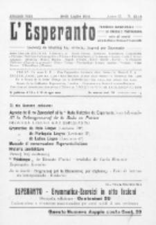 L'Esperanto : lecionoj de klasikaj kaj vivantaj lingvoj per Esperanto. An. 2, N 13/14 (1914)