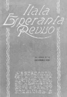 "Itala Esperanta Revuo : oficiala organo de la ""Itala Esperantista Federacio"". Jaro 11, N 12 (1924)"