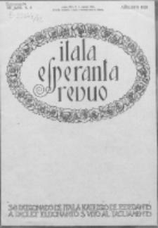 "Itala Esperanta Revuo : oficiala organo de la ""Itala Esperantista Federacio"". Jaro 12, N 8 (1925)"