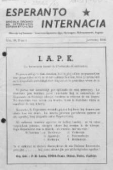 Esperanto Internacia : monata organo de la Internacia Esperanto-Ligo. Vol. 10, No 1 (januaro 1946)