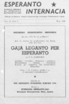 Esperanto Internacia : monata organo de la Internacia Esperanto-Ligo. Vol. 10, No 5 (majo 1946)
