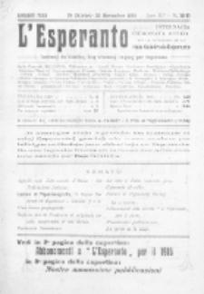 L'Esperanto : lecionoj de klasikaj kaj vivantaj lingvoj per Esperanto. Jaro 3, N 10/11 (1915)