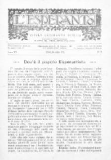 L'Esperanto : lecionoj de klasikaj kaj vivantaj lingvoj per Esperanto. An. 15, N 7 (1928)
