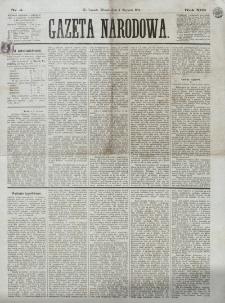 Gazeta Narodowa. R. 13 (1874), nr 4 (6 stycznia)