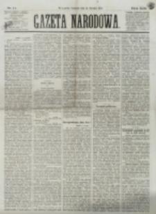 Gazeta Narodowa. R. 13 (1874), nr 11 (15 stycznia)