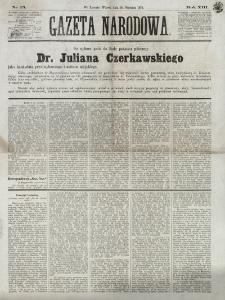 Gazeta Narodowa. R. 13 (1874), nr 15 (20 stycznia)