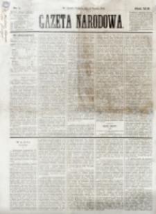 Gazeta Narodowa. R. 13 (1874), nr 1 (1 stycznia)