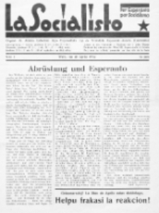 La Socialisto : organo de Aŭstria Laborista Ligo Esperantista. Jaro 7, Nr 4 (Aprilo1932)