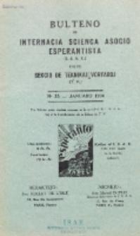 Bulteno de Internacia Scienca Asocio Esperantista (I.S.A.E) kaj de Sekcio de Teknikaj Vortaroj (T.V.). No 33 (Januaro 1934)