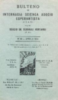 Bulteno de Internacia Scienca Asocio Esperantista (I.S.A.E) kaj de Sekcio de Teknikaj Vortaroj (T.V.). No 34 (Aprilo 1934)