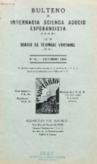Bulteno de Internacia Scienca Asocio Esperantista (I.S.A.E) kaj de Sekcio de Teknikaj Vortaroj (T.V.). No 40 (Oktobro 1935)