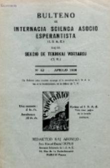 Bulteno de Internacia Scienca Asocio Esperantista (I.S.A.E) kaj de Sekcio de Teknikaj Vortaroj (T.V.). No 42 (Aprilo 1936)