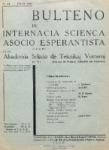 Bulteno de Internacia Scienca Asocio Esperantista (I.S.A.E) kaj de Sekcio de Teknikaj Vortaroj (T.V.). No 48 (Julio 1937)