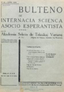 Bulteno de Internacia Scienca Asocio Esperantista (I.S.A.E) kaj de Sekcio de Teknikaj Vortaroj (T.V.). No 53 (Junio 1938)