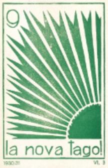La Nova Tago : internacia Baha'i-Esperanto-gazeto. 6-a Jaro, N-ro 3 (Decembro 1930)