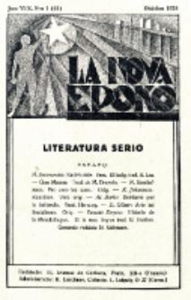 La Nova Epoko. Jaro 1 (1928), no 1=61 (Oktobro)
