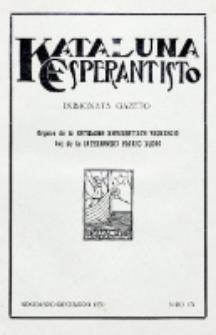 Kataluna Esperantisto : monata gazeto : oficiala organo de la Kataluna Esperantista Federacio. 1930, n-ro 174 (Novembro-Decembro)
