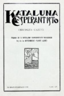 Kataluna Esperantisto : monata gazeto : oficiala organo de la Kataluna Esperantista Federacio. 1931, n-ro 175 (Januaro-Februaro)