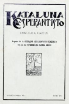 Kataluna Esperantisto : monata gazeto : oficiala organo de la Kataluna Esperantista Federacio. 1931, n-ro 176 (Marto-Aprilo)