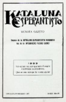 Kataluna Esperantisto : monata gazeto : oficiala organo de la Kataluna Esperantista Federacio. 1933, n-roj 190-191 (Januaro-Februaro)