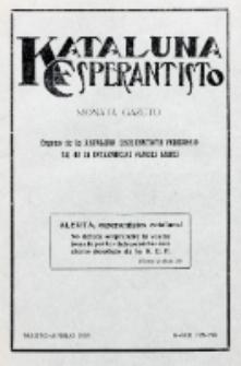 Kataluna Esperantisto : monata gazeto : oficiala organo de la Kataluna Esperantista Federacio. 1933, n-roj 192-193 (Marto-Aprilo)
