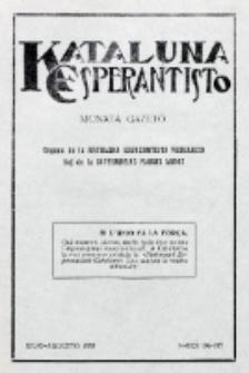 Kataluna Esperantisto : monata gazeto : oficiala organo de la Kataluna Esperantista Federacio. 1933, n-roj 196-197 (Julio-Augusto)