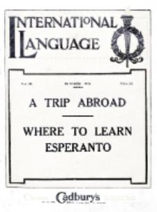 International Language : a monthly magazine. Vol. 3 (1926), October