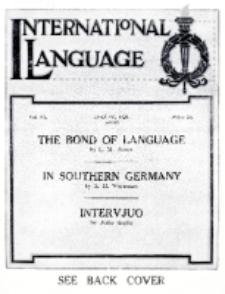 International Language : a monthly magazine. Vol. 6 (1929), August
