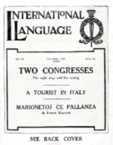 International Language : a monthly magazine. Vol. 6 (1929), October