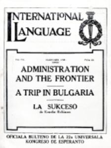 International Language : a monthly magazine. Vol. 7 (1930), February